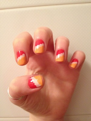Chupa chups easy nail art :)