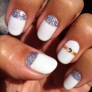 Bridal Nail Art for the nail-obsessed bride. http://leadingladymakeup.com/2012/08/15/wedding-series-bridal-nails/