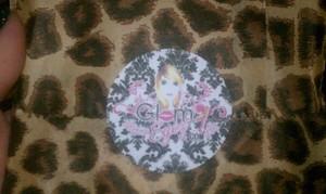 my GlamEyez package  pretty lepard bag and Glameyez.com sticker for seal