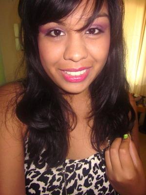 My makeup for the Britney Spears/Nicki Minaj concert.