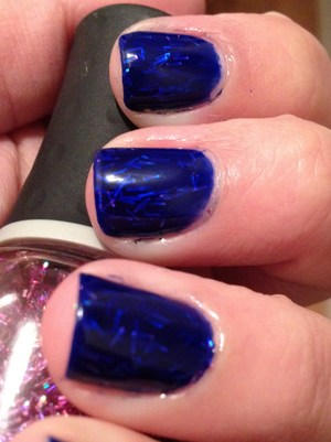 Excuse the messy cuticles- Revlon Royal and Orly Be Brave sandwich