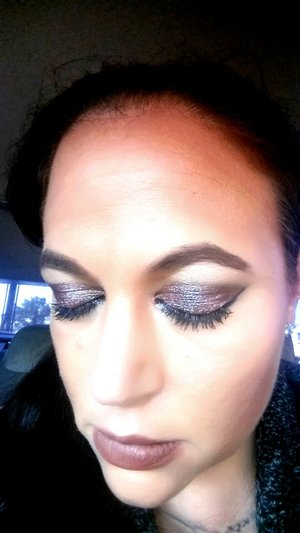 macs boom boom room dazzle shadow, whirl lipstick and liner and uds rapture blush