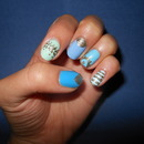 Feeling blue with gold designs