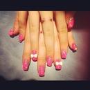 pink nail/finger piercing!