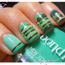 Striping Tape Mani with Bondi New York