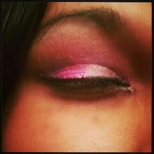 Pink and White eye shadow great for an every day look to a special event