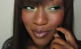 It all Belongs to me | MONICA makeup Green Eyes Nude Lips