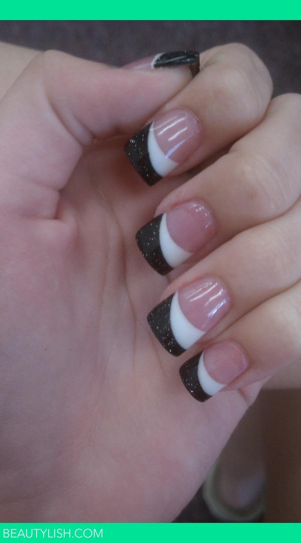 Black And White Solar Nails Courtney D S Photo Beautylish