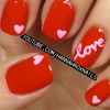 Valentine's Day Love Nail Art