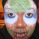 Face painting earth