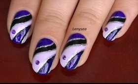 Easy Elegant Purple Prom Nail Design