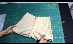 1 Sweater DIYed Into: Shorts, Leg Warmers and Beret