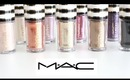 MAC Pigment & Glitter Swatches 10 shades