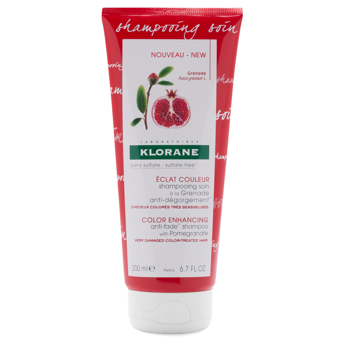 Klorane Anti-Fade Shampoo with Pomegranate product swatch.
