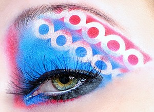 fun look using red and blue
