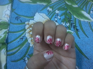 RED ZEEniA on lightest pink color..! <3