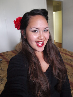 I love the classic style of pin up girls! I did a simple victory roll for my hair then added a red lip, winged eyeliner, and some defined brows :)