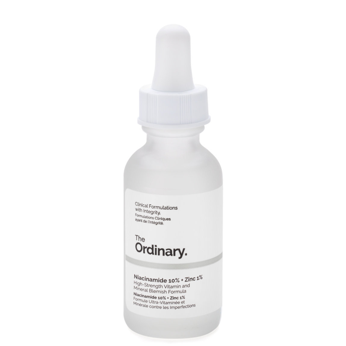 The Ordinary. Niacinamide 10% + Zinc 1% product smear.