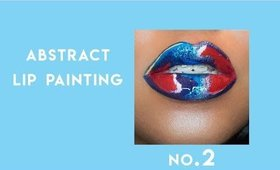 abstract lip art painting with abh, kvd and lime crime