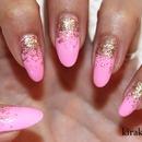 KKN Basics: Reverse Glitter Gradient Nail Design 1