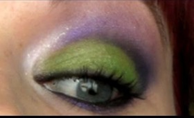Wearable Green and Purple Cut Crease Makeup Tutorial