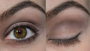 Light/medium/dark brown eyeshadow Video: http://www.youtube.com/watch?v=_LYX4M9SPRw