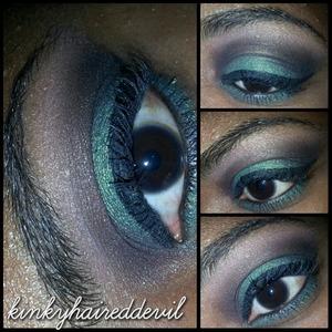 green smokey eye using my bh cosmetics party girl palette.