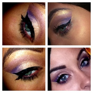 A lighter look, all eyeshadows are Urban Decay. Sin, Grifter, Last Call, Ransom, and the highlight is Watts Up by Benefit