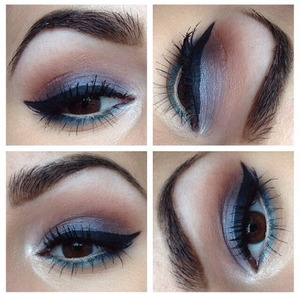 Today's eyes. Follow on Instagram for a list of what I used: MakeupByKristyG