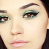 BRIGHT GREEN SMokey eye make up