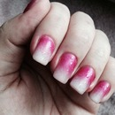 Pink ombré with raindrop effect