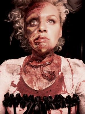 Zombie Marie Antoinette Inspired Look. Brisbane Zombie Walk 2011.