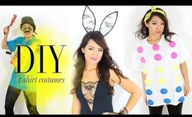 DIY T-shirts into Halloween Costumes {Easy}