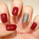 Red & Holographique nails