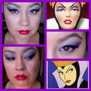 This is my take on the Evil Queen makeup,Hope you Beauties like it :)