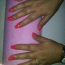 neon pink orange!!