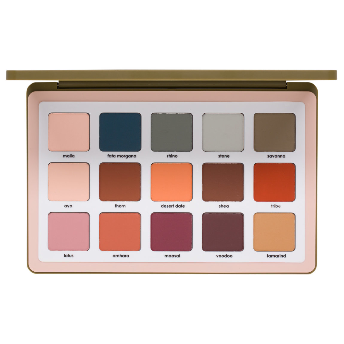 Natasha Denona Safari All Matte Palette product smear.