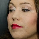 Red Lip with Simple Cat Eye