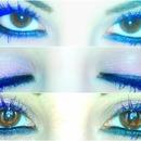 blue/purple mascara