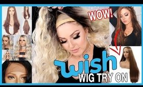 Trying On WISH APP Wigs! 💕💇 Lace Front & Affordable Wish Haul!