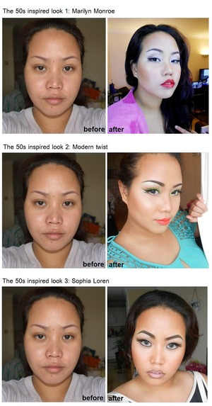 Experimenting on different look in the 50s  http://www.facebook.com/pages/PKay-blog-Creative-Artist-makeup-addict/156635497729795