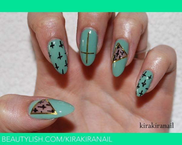 Mint Cut Out Nail Design Kirakiranail Ks Kirakiranail