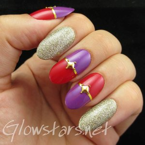 Read the blog post at http://glowstars.net/lacquer-obsession/2014/08/nail-max-collections-vol-10-design-purple-044/