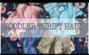 TODDLER THRIFT HAUL   VALUE VILLAGE AND MORE..