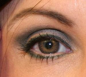 My black wig & hazel eyes contacts