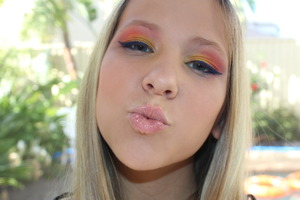 makeup on kirsty for my portfolio (: