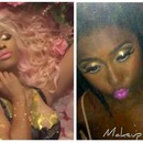 Nicki Minaj Pink Friday perfume add inspired makeup