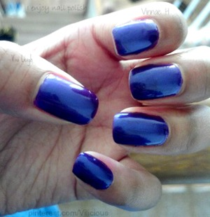 This is two coats of Sally Hansen Purple Potion