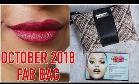 FAB BAG October 2018 | Unboxing & Review | 10 Mini Lipsticks! | Stacey Castanha