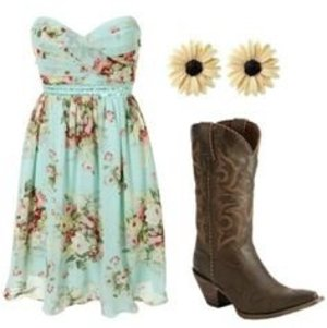 Country Boots with Cowgirl Boots